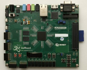 Image of the Zedboard, front view