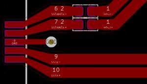 Tracks on PCB